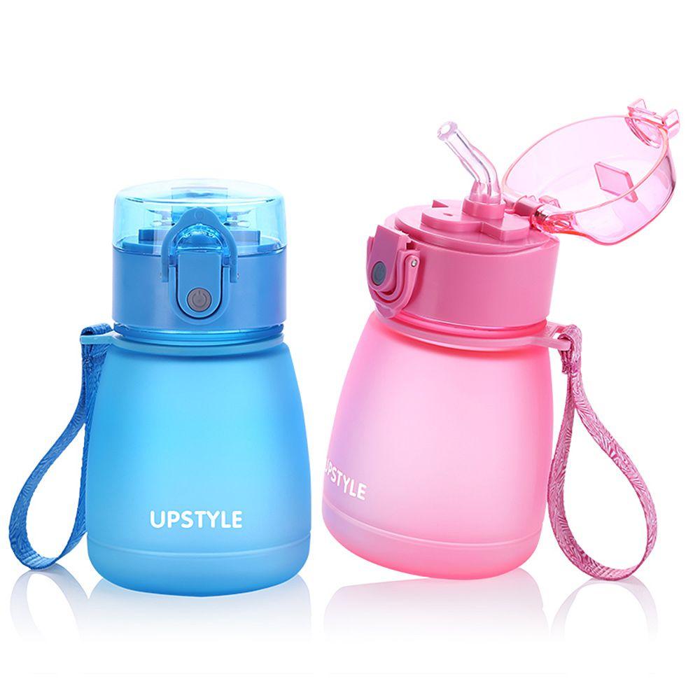 d7f915080c UPSTYLE Food Grade Children Mini Water Botter With Straw Leak Proof Scrub  Plastic Sports Water Bottle For Kids 10oz(300ml)pc510