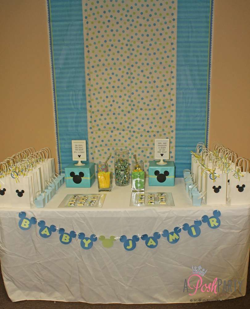 mickey mouse baby shower party ideas | mickey mouse baby shower