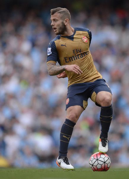 Premier league People - Photos -  Arsenal's English midfielder Jack Wilshere controls the ball during the English Premier League football match between Manchester City and Arsenal at the Etihad Stadium in Manchester, north west England, on May 8, 2016. / AFP / OLI SCARFF / RESTRICTED TO EDITORIAL USE. No use with unauthorized audio, video, data, fixture lists, club/league logos or 'live' services. Online in-match use limited to 75 images, no video emulation. No use in betting, games or single c