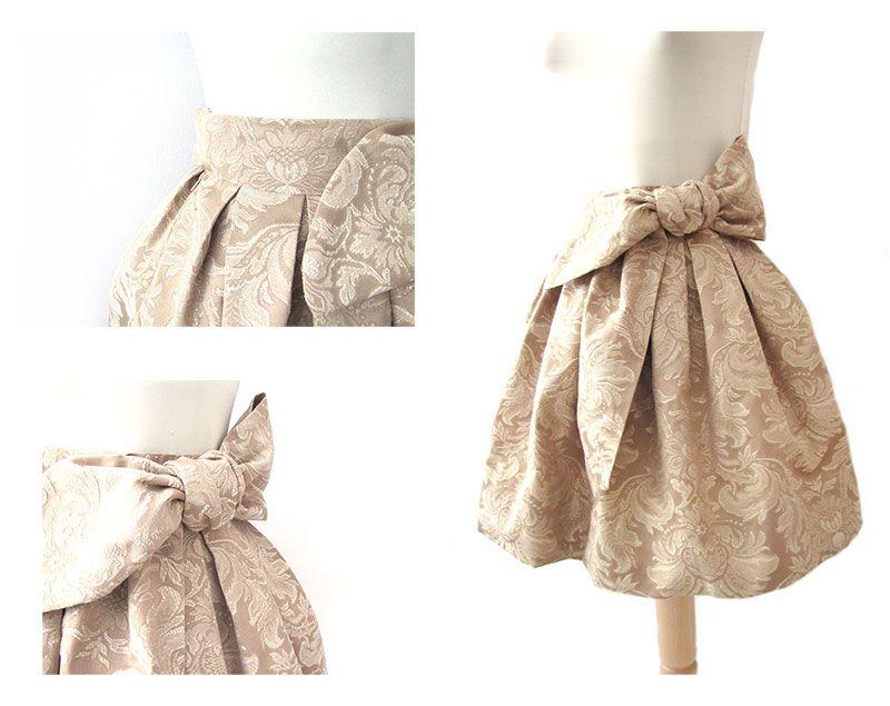 Cómo hacer una falda brocada sin patrón | costura | Pinterest ...