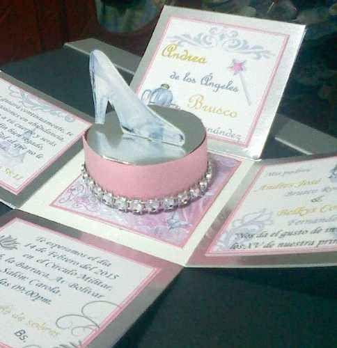 f2f44487a tarjetas de invitacion de fiestas de 15 años de cenicienta (10 ...
