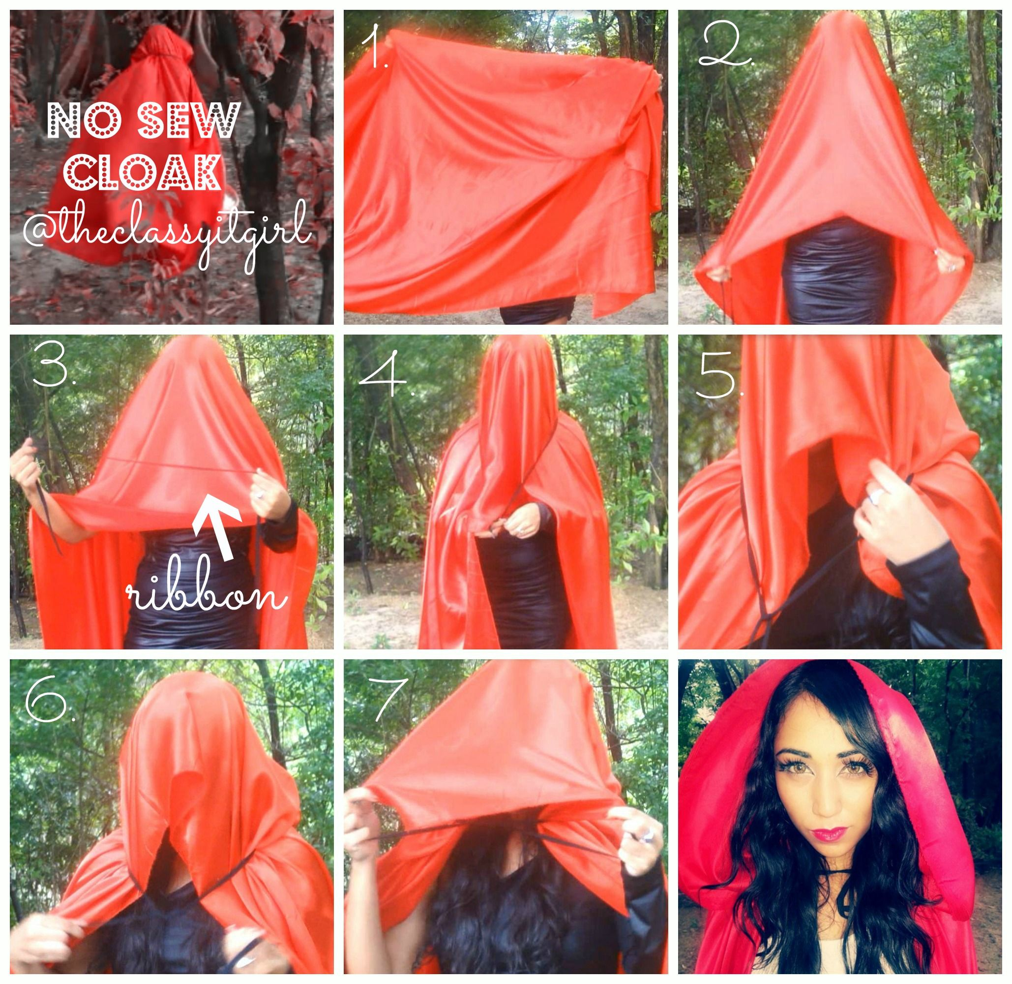 79f6ffd2474 DIY easy hooded cape - Google Search Red Riding Hood Costume Kids