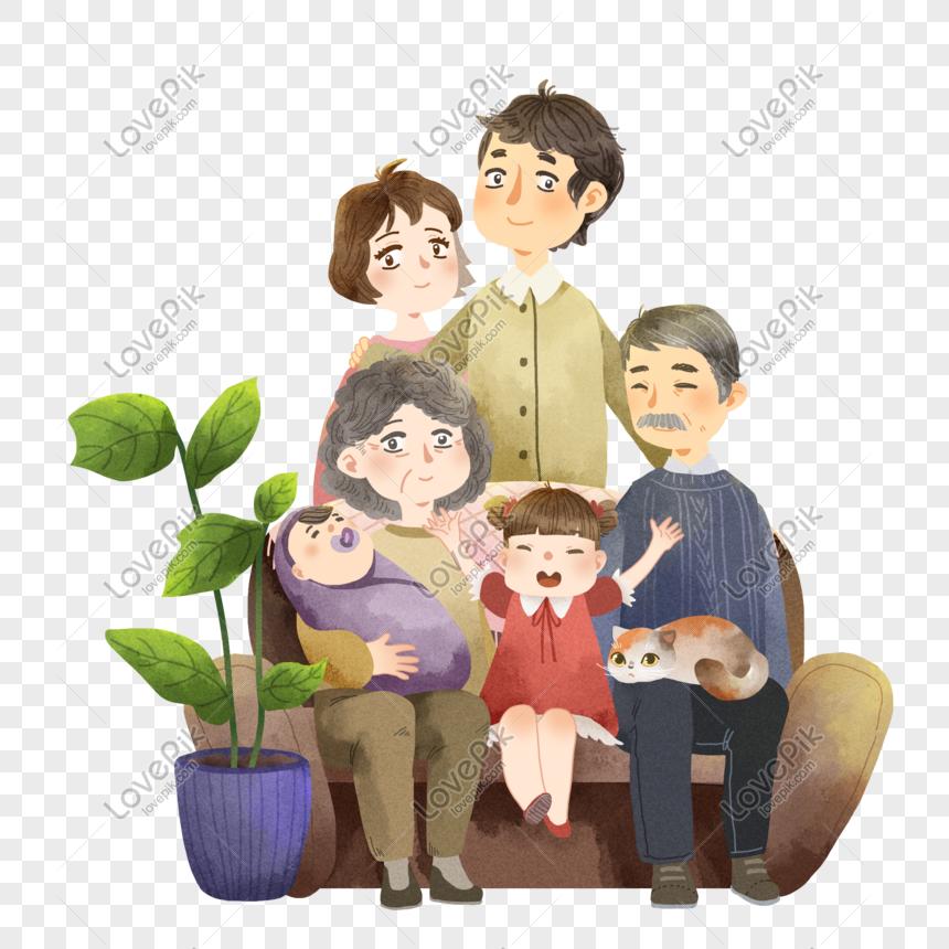 الكرتون صورة دمية عائلة عنصر Cartoon Anime Character