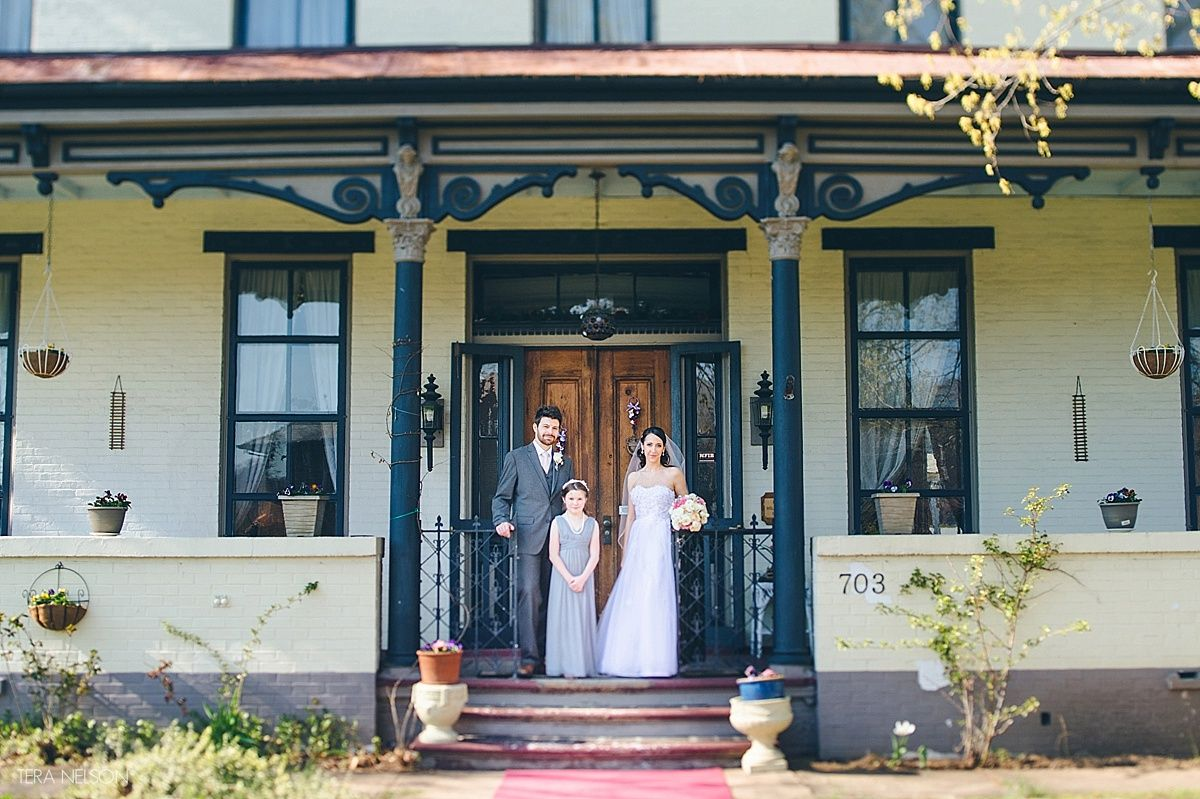 Wedding Day Couple Portraits At The Allegheny Street BB In Hollidaysburg PA Photo By
