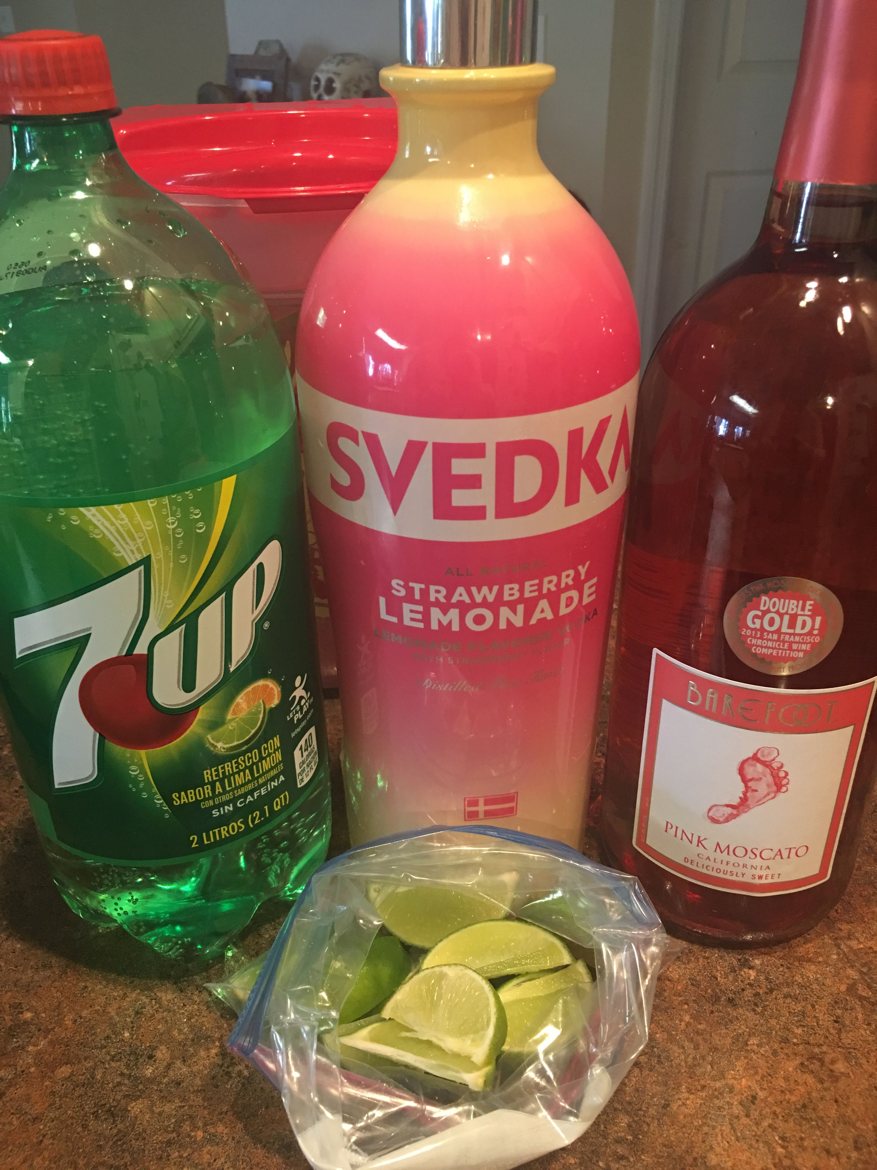 Poolside Punch Very Light And Refreshing And Great To Drink During A Pool Day Ingredients 2 Cups Svedka Strawberry Lemonade Vodka 2 Liter Of 7up 1 5l With Images Drinks