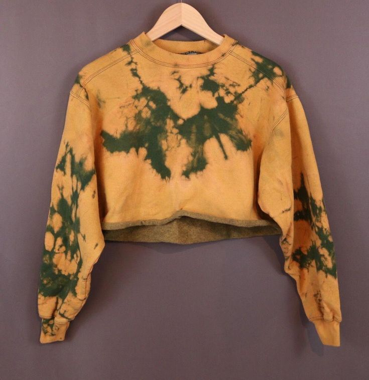 Custom Cropped Bleached Sweatshirt. Distressed. Edgy. Grunge. Grungy 90s style. ...,  #90s #9...