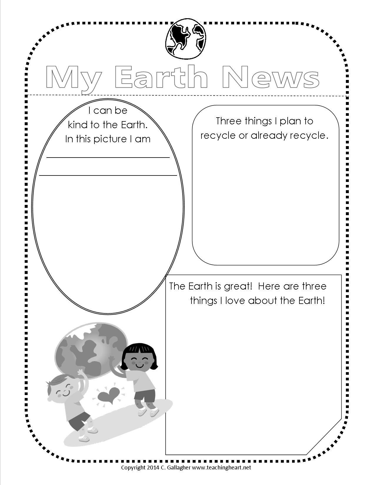 worksheet Earth Day Worksheet earth day 2014 free printable and teaching heart blog