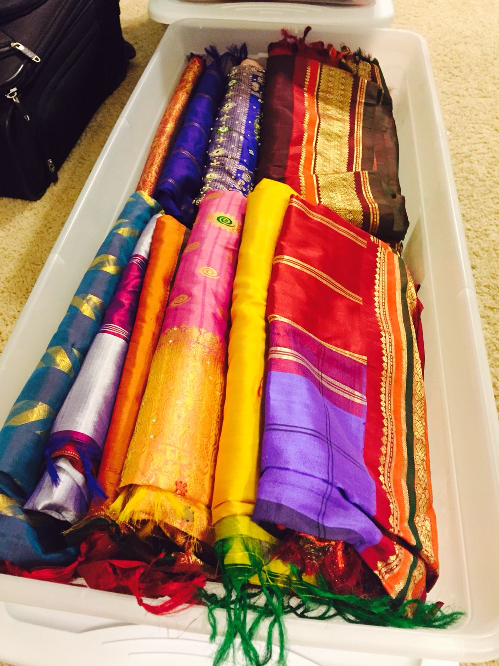 Great Way To Store All My Indian Sarees Under The Bed 41
