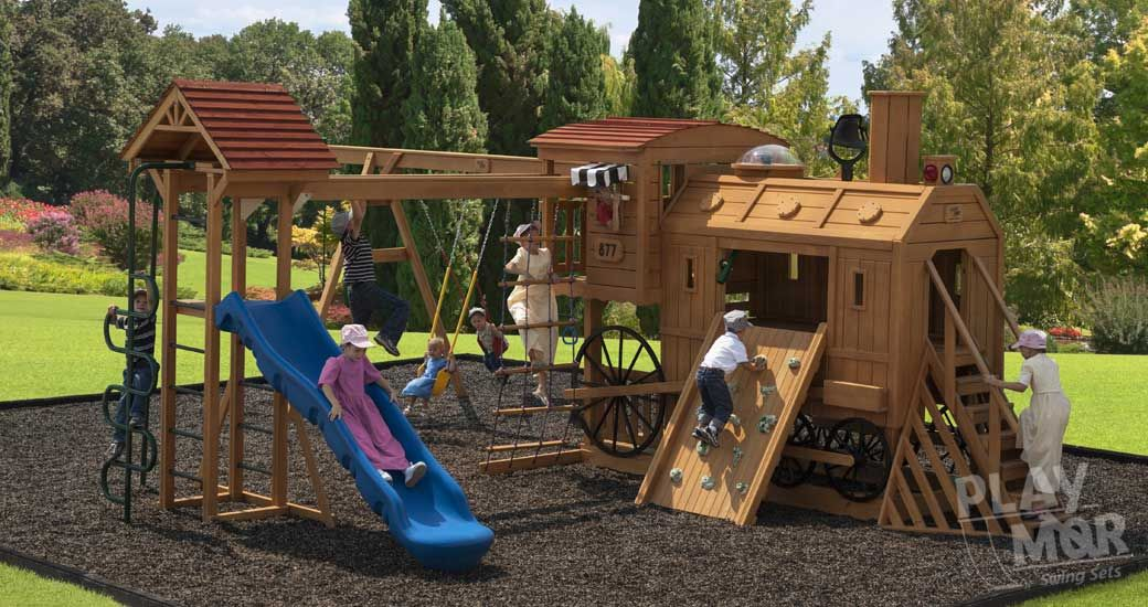 Clickety Clack Station Childrens Wooden Play Sets Tree Houses
