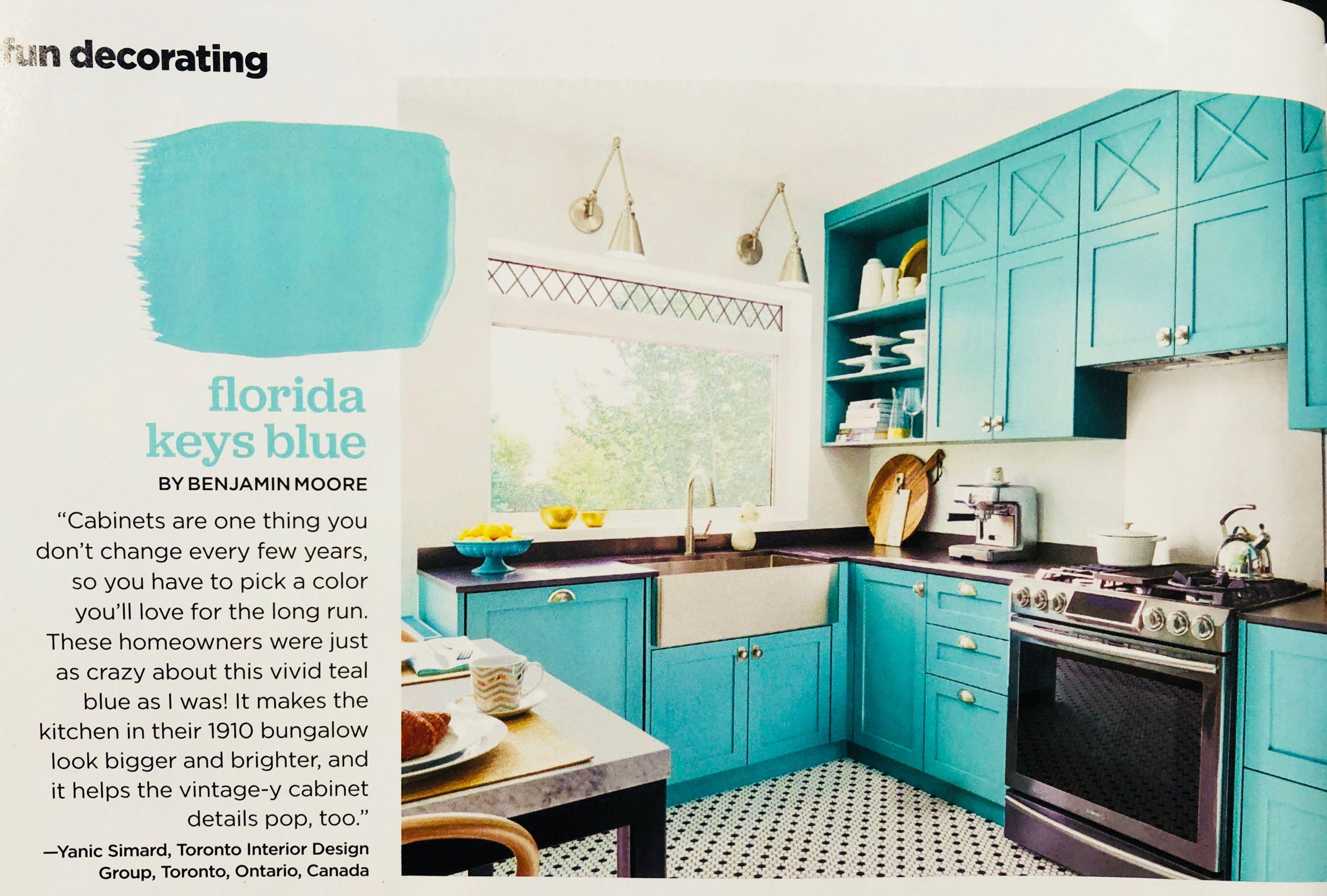 Above Upper Cabinet Detail Florida Keys Blue By Benjamin Moore Home Kitchens Kitchen Cabinet Colors Cabinet Detailing