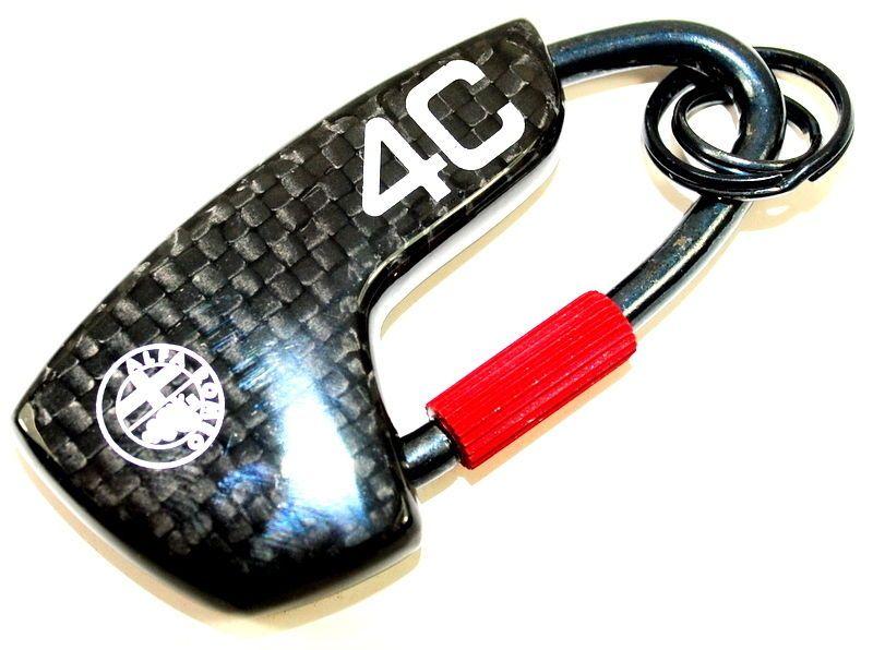 Alfa Romeo 4c Carbon Fibre Key Ring Fob In A Gift Box New
