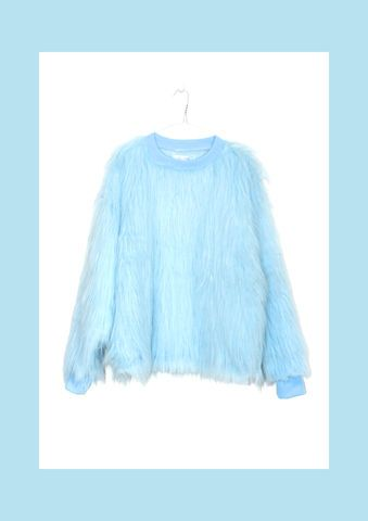 BABY,BLUE,FAUX,FUR,SWEATER,Sweater, Fur, Faux, Faux Fur, Blue, Fun