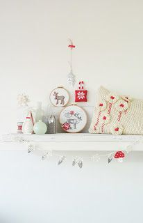 Red white Dutch christmas Elines huis