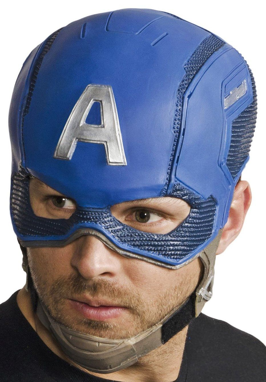 Marvel/'s Captain America Superhero Cosplay Latex Over The Head Mask OSFM Adults