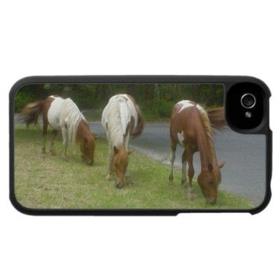 """""""Carefree Ponies"""" iPhone 4 Cover by Joyful Inspirations"""