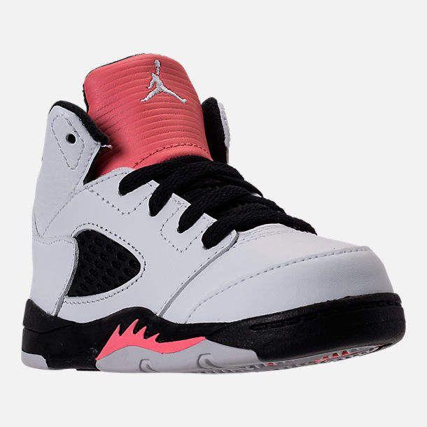 8d7629cd28629a Nike Girls  Toddler Jordan Retro 5 Basketball Shoes
