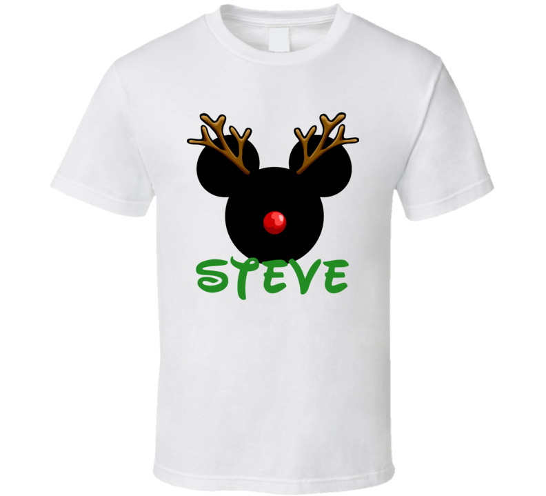 7602b51f3 Steve Mickey Mouse Cool Custom Name Christmas Holiday Gift T Shirt ...