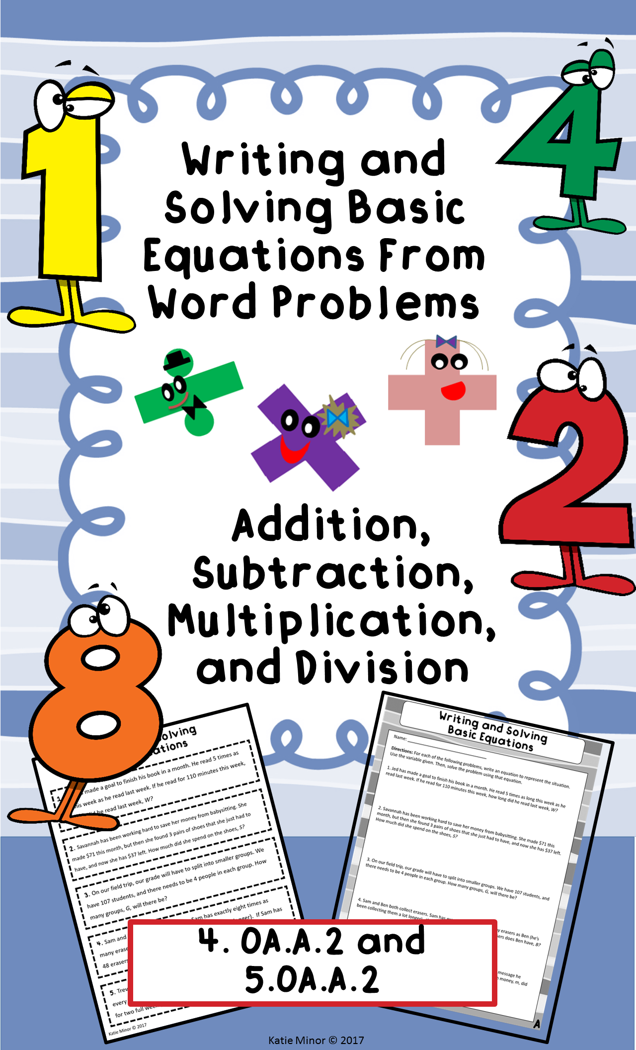 Writing And Solving Basic Equations From Word Problems 4