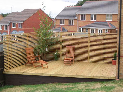 Decking16 Jpg 512 384 Sloped Backyard Sloped Garden Deck Garden