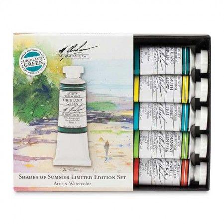 M Graham Shades Of Summer Limited Edition Watercolor Set