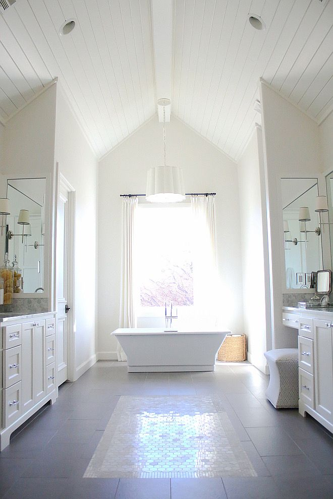 Paint Color Is Sherwin Williams Alabaster Shiplap Ceiling