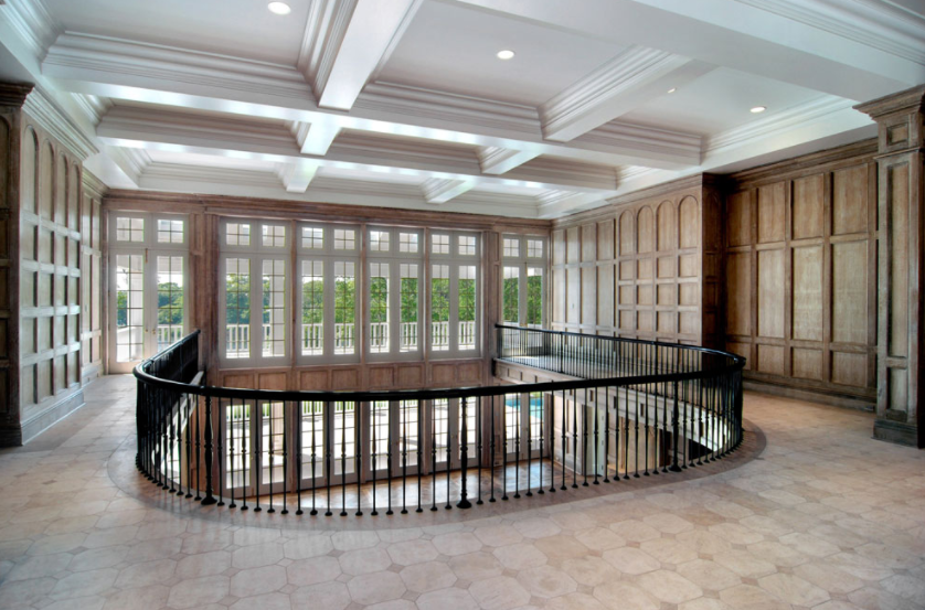 Upstairs Foyer Ideas : Upstairs foyer over great living room beyonce jay z have