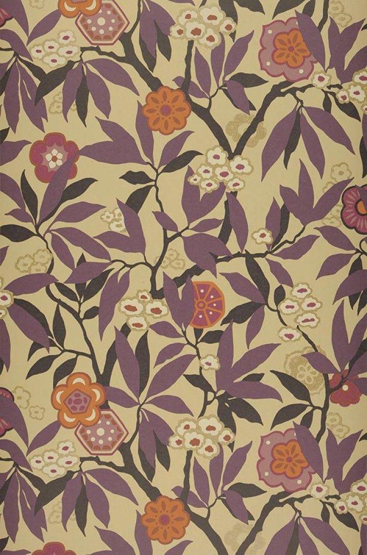 towa papier peint floral les ann es 70 et ann es 70. Black Bedroom Furniture Sets. Home Design Ideas