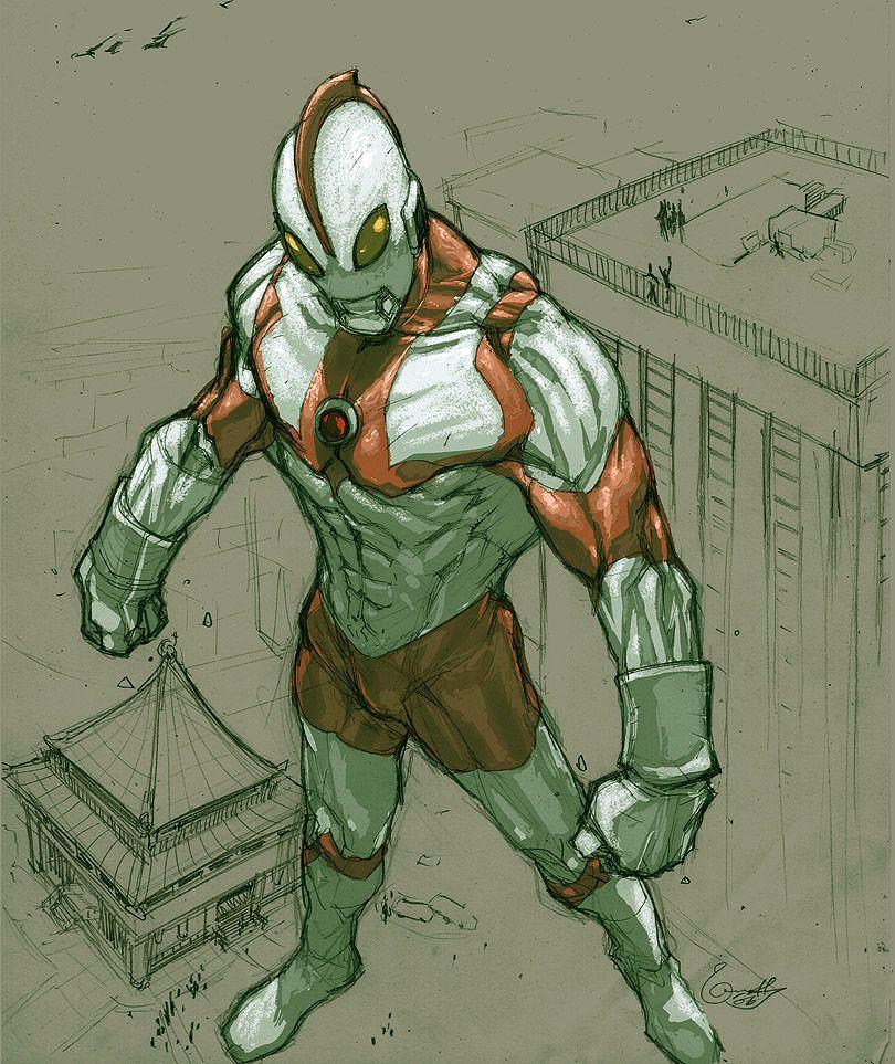 Ultraman sketch by *scabrouspencil on deviantART