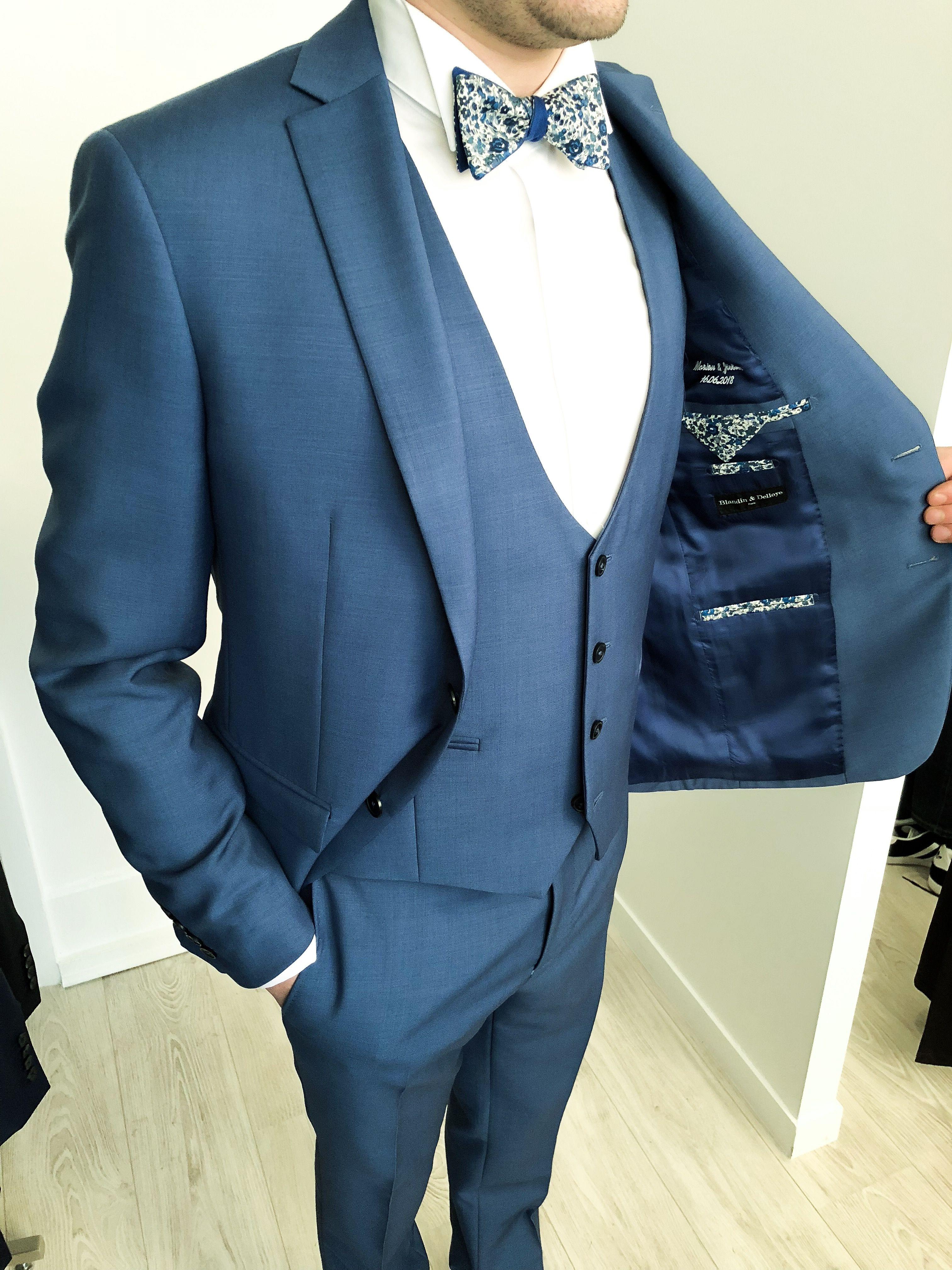 Costume Mariage Homme Bleu Marine