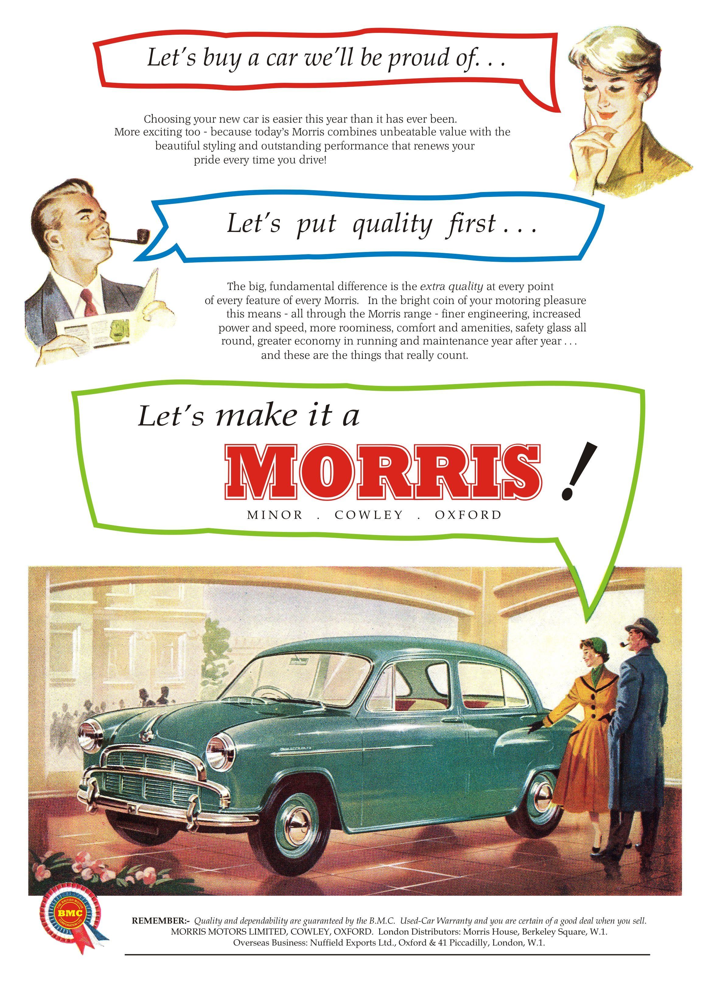 Car Advert Morris Oxford Series 2 | Autos - Ads & Publications ...