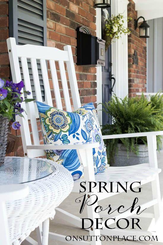 Easy Spring Porch Refresh Ideas Inspiration Spring Porch Spring Porch Decor Decor