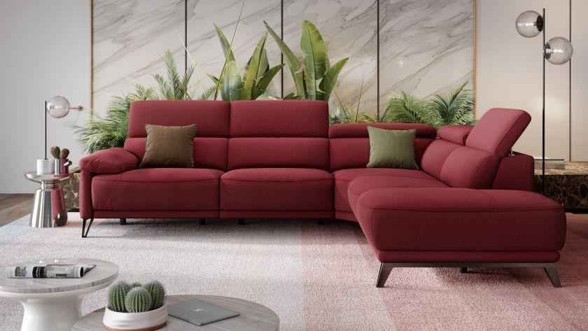 Dieses Ecksofa Mit Sitztiefenverstellung Sorgt Fur Besondere Annehmlichkeiten Lassen Sie Sich Von Dem Schonen Stoff S In 2020 Sofa Mit Relaxfunktion Wohnen Sofa Stoff