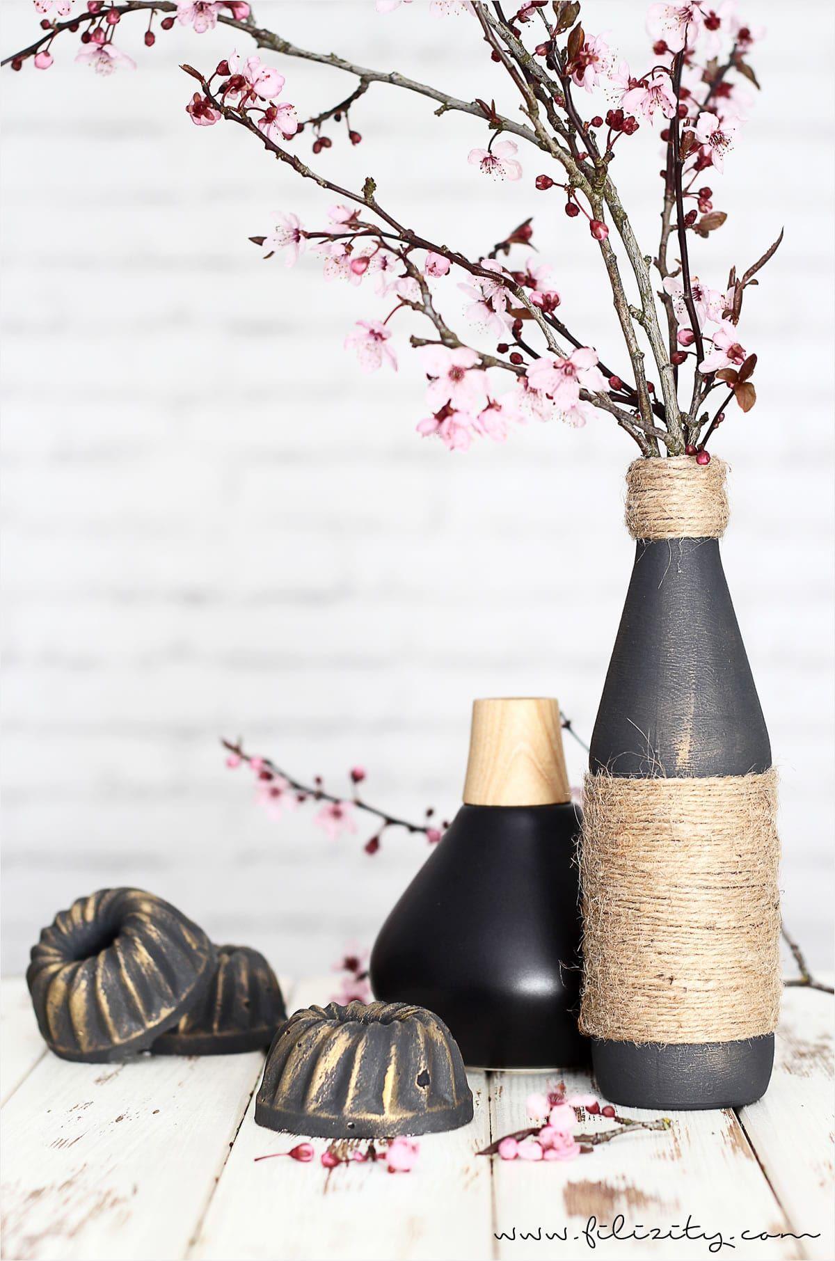 Edle Vasen Aus Flaschen Und Jutegarn Filizity Com Interior Diy Blog Aus Dem Rheinland Flaschen Dekorieren Flaschen Dekoration Deko