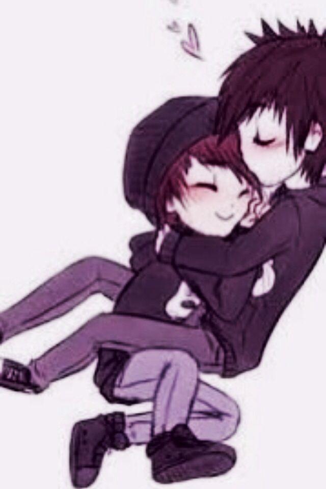 Cute gay emos like each other