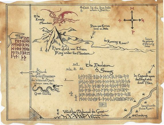 thrrs map the hobbit inspired thorins map by lisellemade 1000