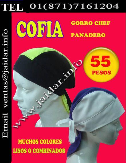 cofias gorros chef o panadero - Torreón - Unisexo - produtos ... 26867d3ab63