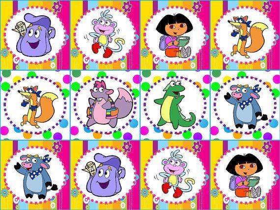 Dora Party Cupcake Toppers Ideas Para Imprimir Pinterest - Dora birthday cake toppers