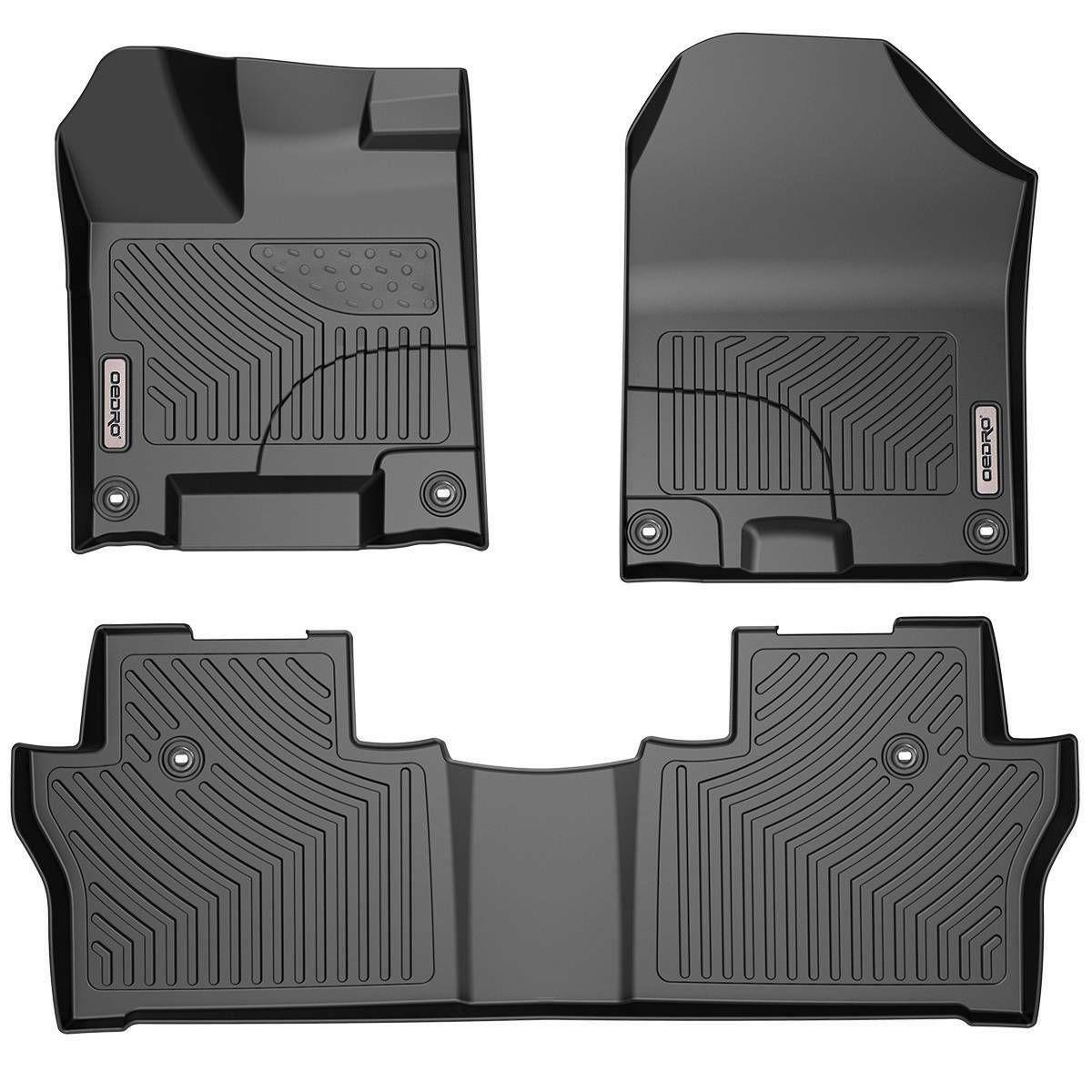 OEDRO Floor Mats Liners Unique Black TPE fit for Honda