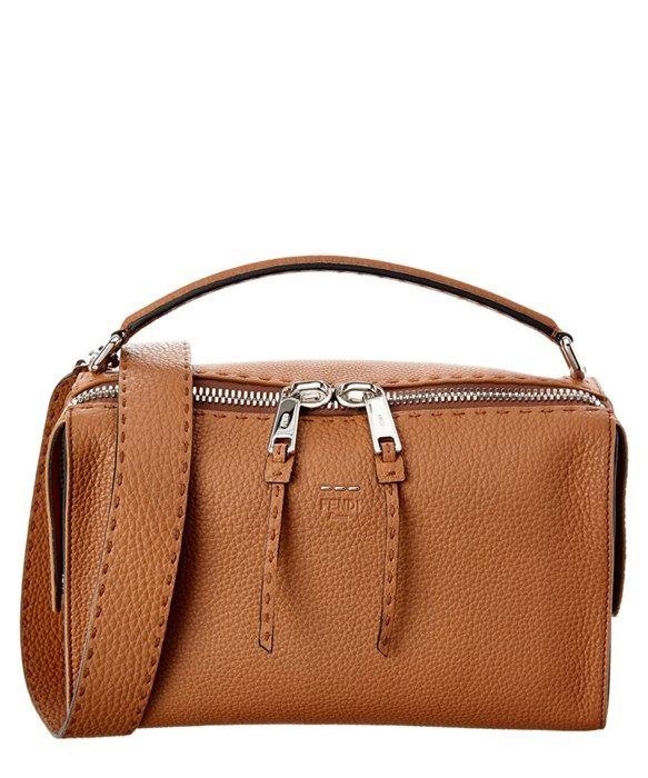 396b92311691 FENDI Lei Selleria Leather Boston Bag  2