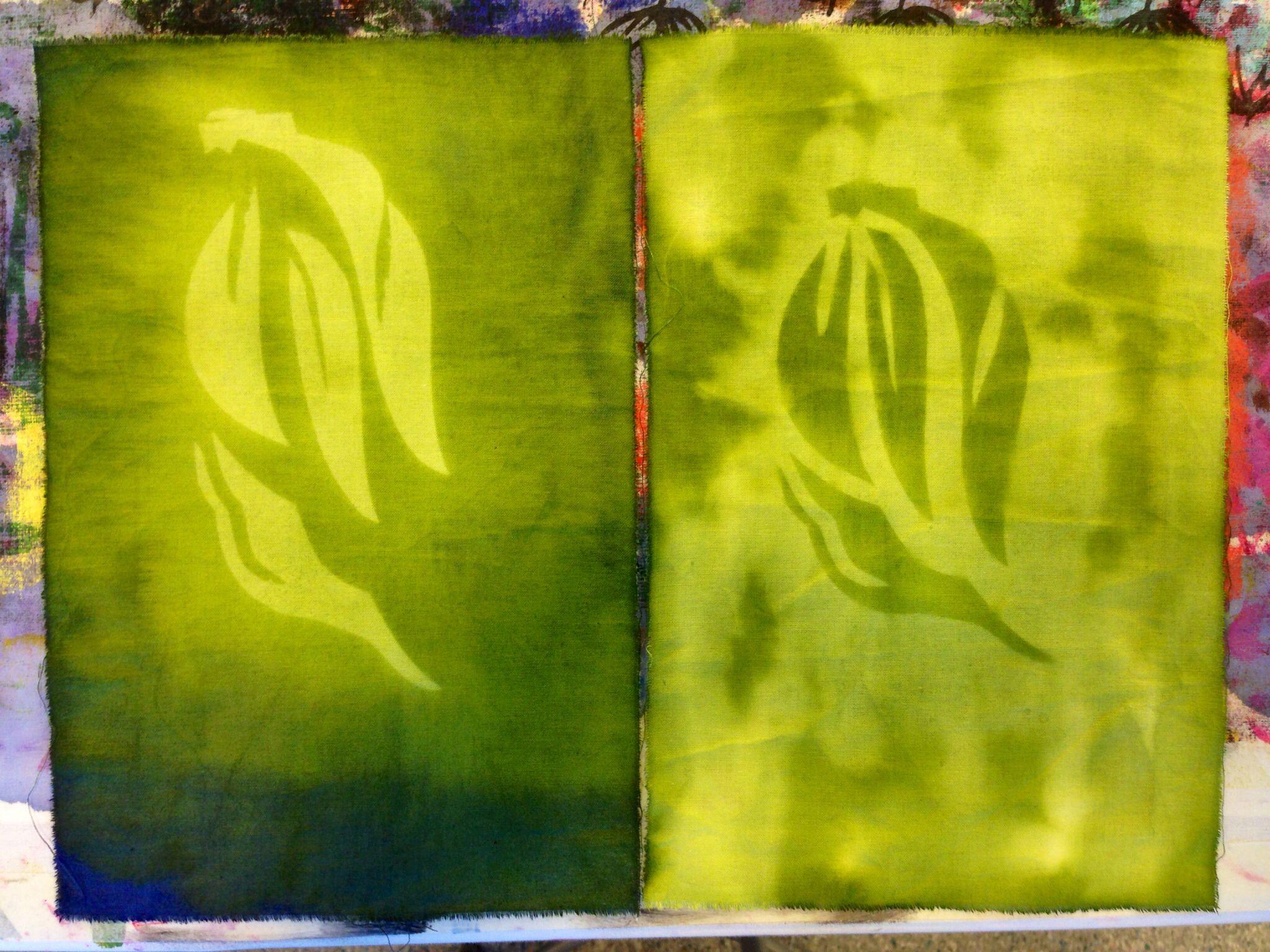 Aurinkovärjäys paperin avulla ( liljaana )
