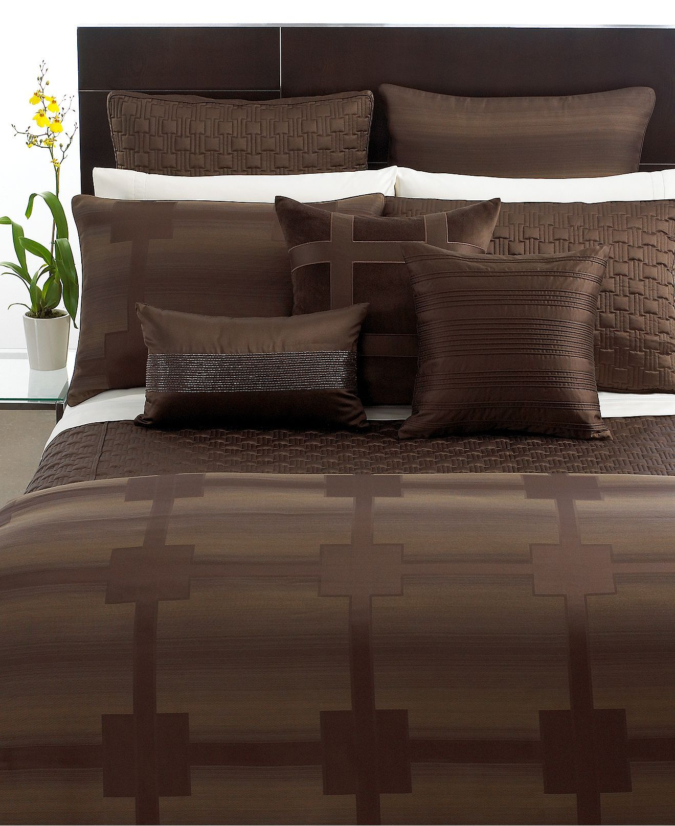 Hotel Collection Bedding Meridian Sepia Collections Bed Bath Macy S