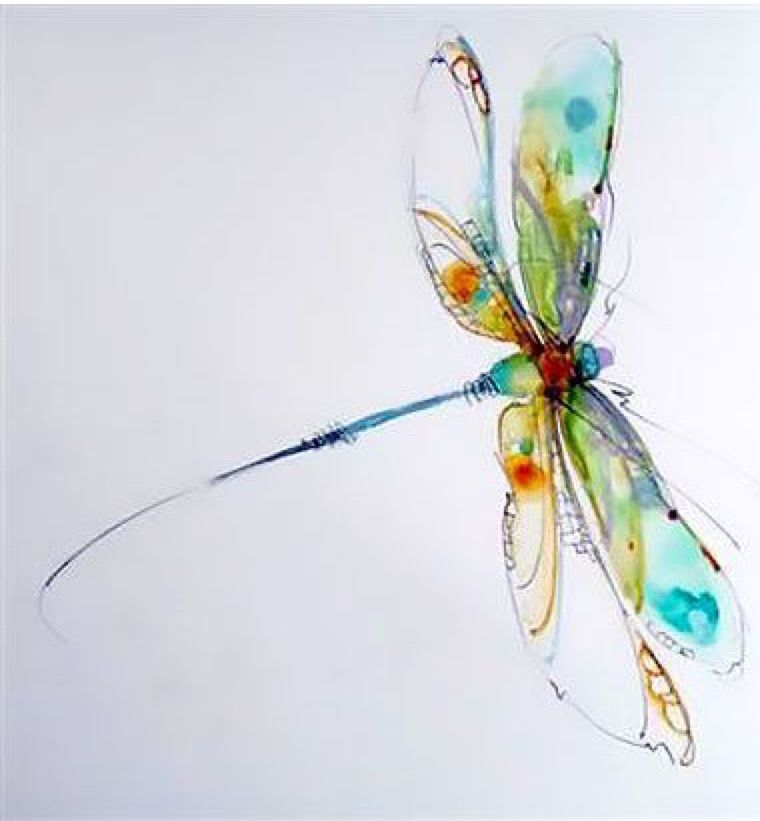 Pin By Lana Kier On Painting In 2020 Watercolor Dragonfly Tattoo