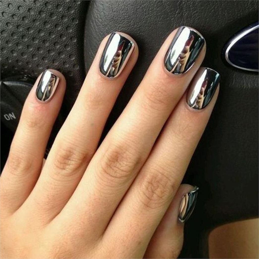 Amazon Com Oksale Women Diy Mirror Powder Effect Chrome Nails