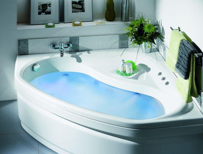 salle de bain avec douche italienne et baignoire d\'angle ...