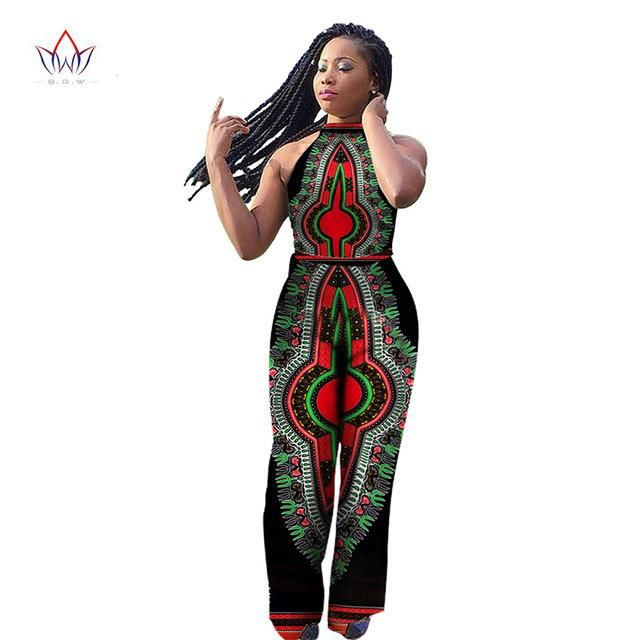 62030f85cca BintaRealWax Womens Jumpsuits Dashiki African Print Sleeveless Long Pants  Africa Style Plus Size 6XL Clothing One Piece. Item Type  Jumpsuits    Rompers ...