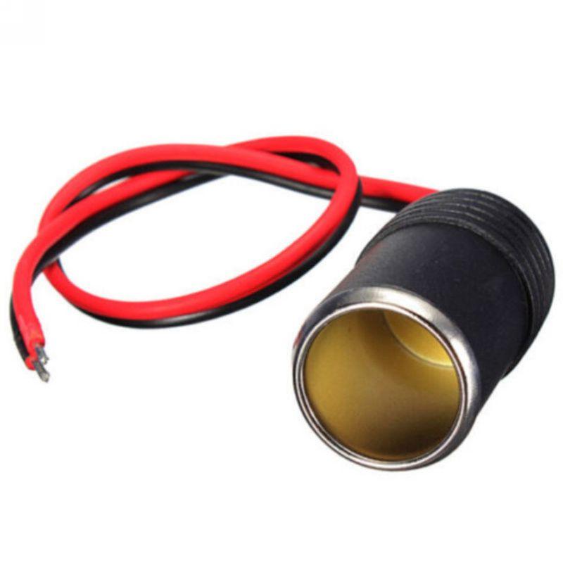12//24V DC Female Car Cigar Lighter Socket Plug Socket Connector Adapter