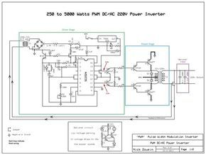 250 to 5000 Watts PWM DC/AC 220V Power Inverter | Circuito ...