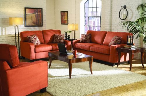 Red Living Room Furniture Living Room Furnishings Furniture