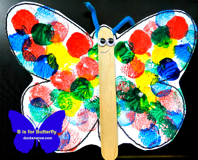 B Is For Butterfly Preschool Lesson Craft Insects And Spiders