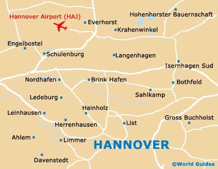 Map of Hannover Langenhagen Airport HAJ Orientation and Maps